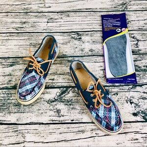 SPERRY⚡️Top-Sider Sequin Boat Shoes+New InSole_8.5
